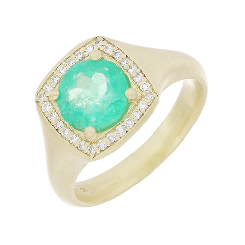 Columbian Emerald Large Signet Ring