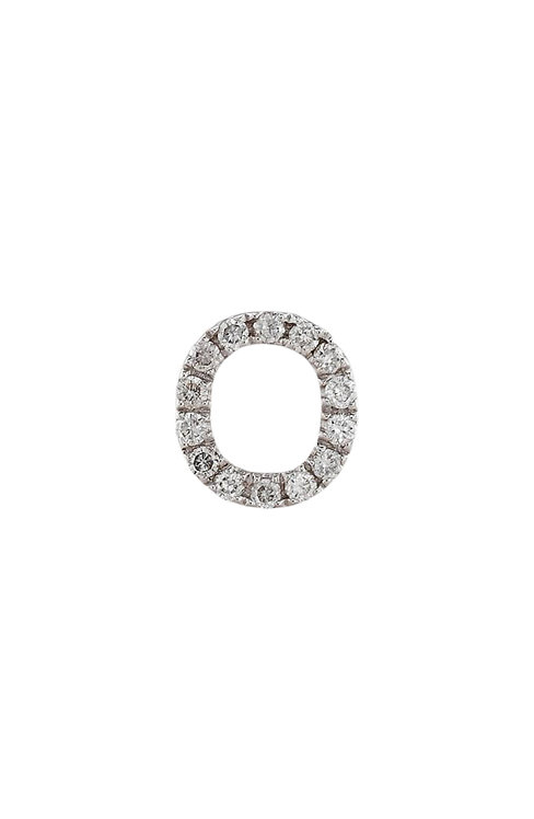 "Single Initial Diamond Stud - ""O"""