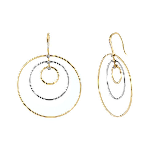 Two-Tone Round Earrings