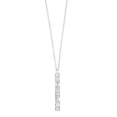 Gatsby Baguette and Round Bar Pendant