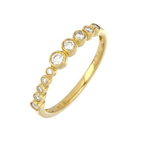 Graduated Bezel Diamond Stackable Ring