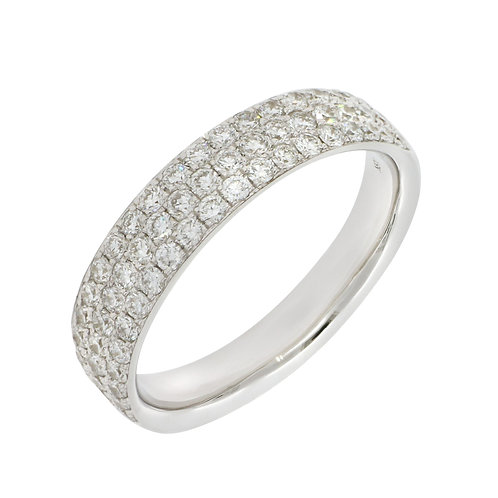Audrey Thre-Row Diamond Ring