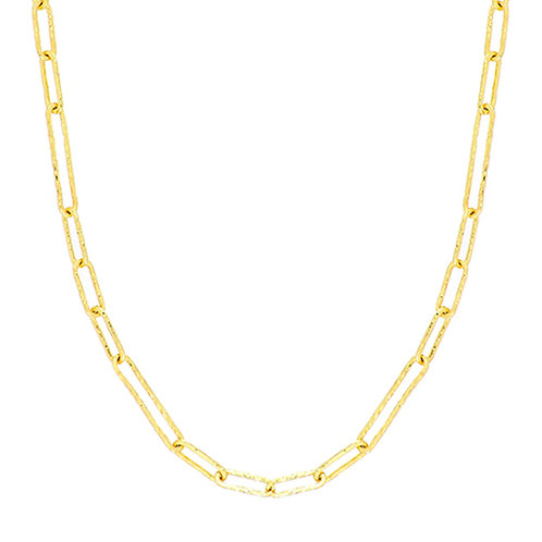 14K Ofira Hammered Link Chain