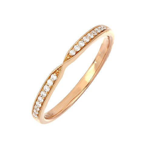 Delicate Twist Stackable Diamond Ring