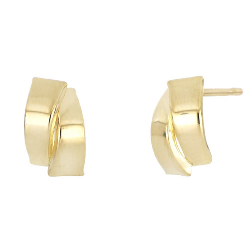 Bony Levy Gold Crossover Curved Studs