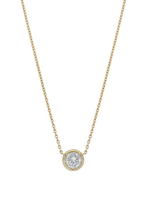 0.50 Yellow Gold Bezel Pendant