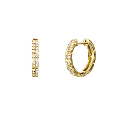 Katherine Two Row Pave Hoops