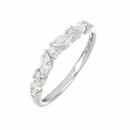 Marquise Diamond Stackable Ring