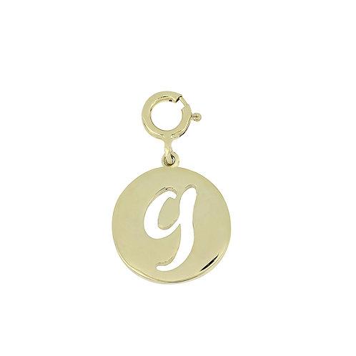 "14K Initial Charm - ""G"""