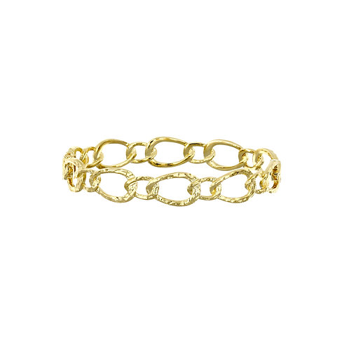 Ofira 14K Textured Oval Link Necklace