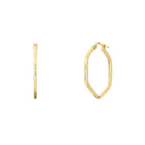 Bony Levy Gold Octagon Hoops