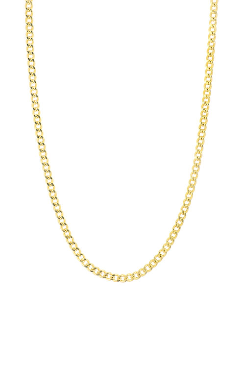 """14K 18"""" CURB CHAIN NECKLACE"""