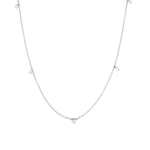 Floating Diamond Station Necklace