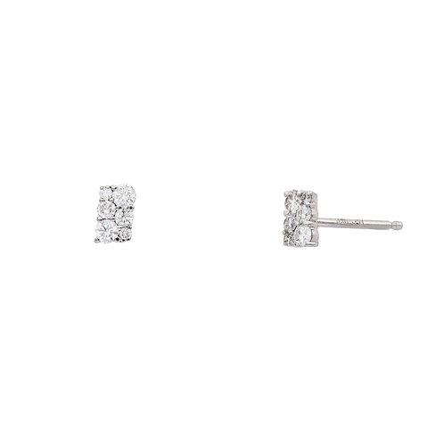 Rectangular Diamond Studs