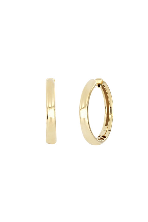14K 28MM HIGH POLISHED ROUNDED HOOPS