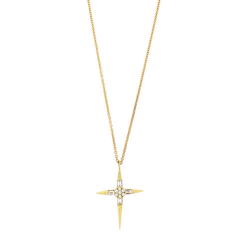 BL Icons Pointed Cross Pendant