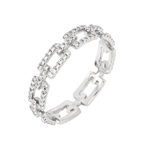 Prism Link Eternity Ring