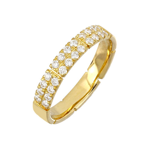 Katherine Two Row Pave Ring
