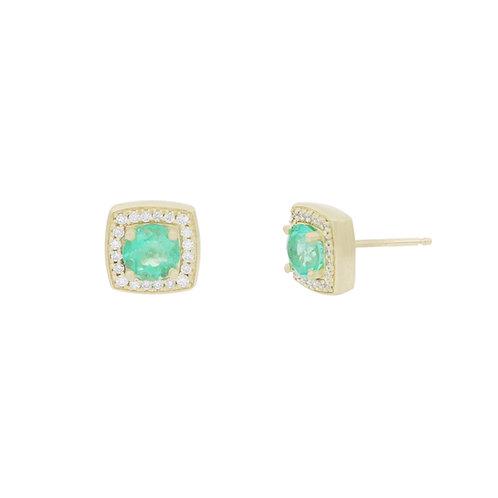 Columbian Emerald Studs