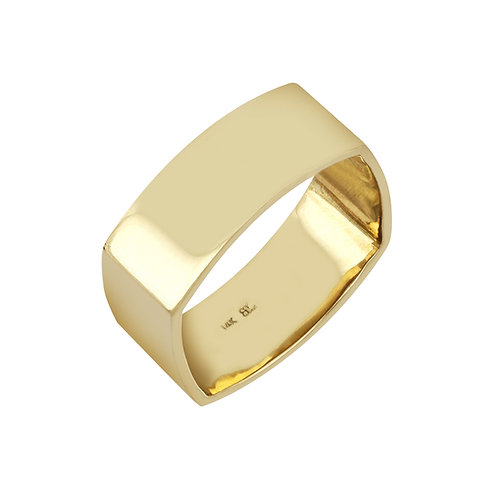 14K Gold Wide Square Ring