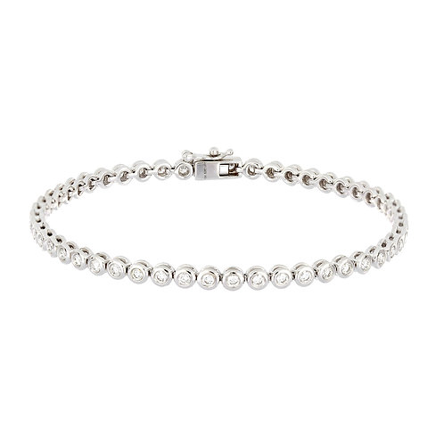 Bezel Diamond Tennis Bracelet