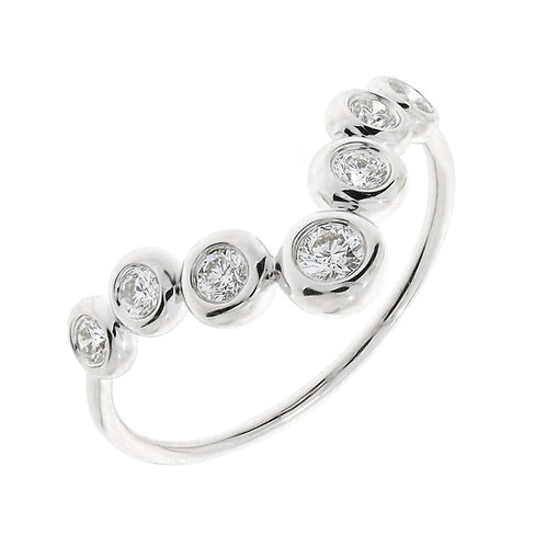 Monaco Chevron Bezel Stackable Ring