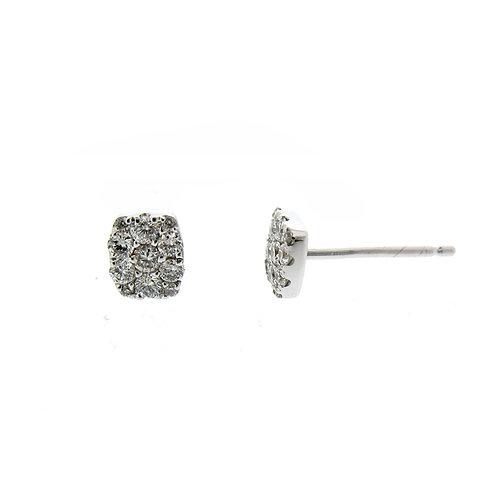 Rectangle Cluster Diamond Studs