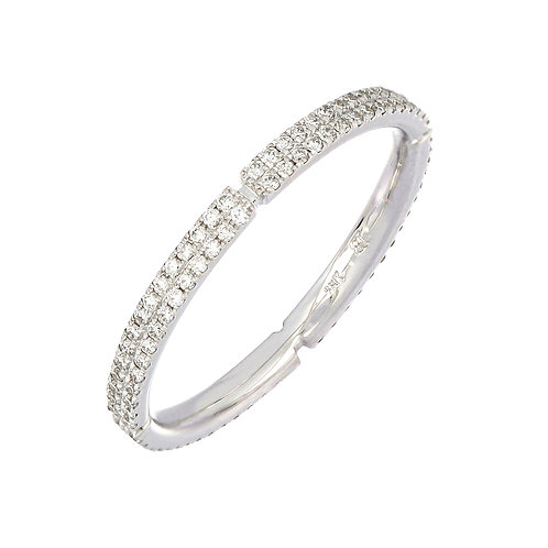 Notched Diamond Stackable Ring
