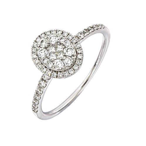 Mika Oval Diamond Ring