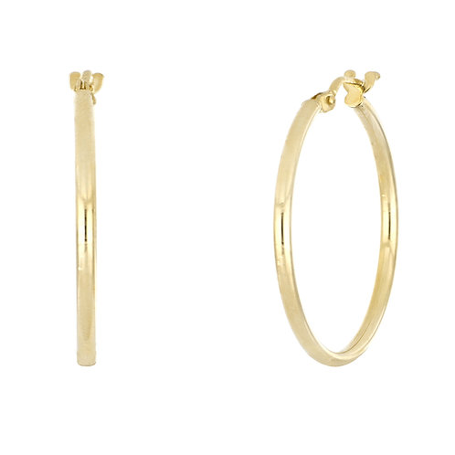 Bony Levy Gold Thin Classic Hoops