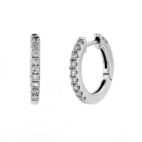 Bony Levy Diamond Hoops