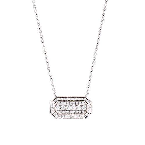 Deco Diamond Bar Pendant