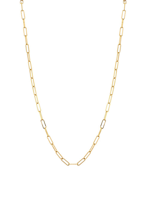 Ofira Thin Rectangular Link Chain