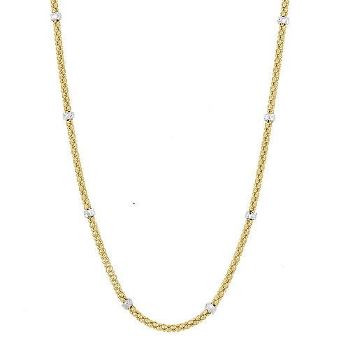 """14K 18"""" CUBE AND BOX CHAIN"""