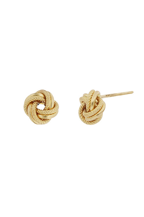 Bony Levy Gold Knotted Studs