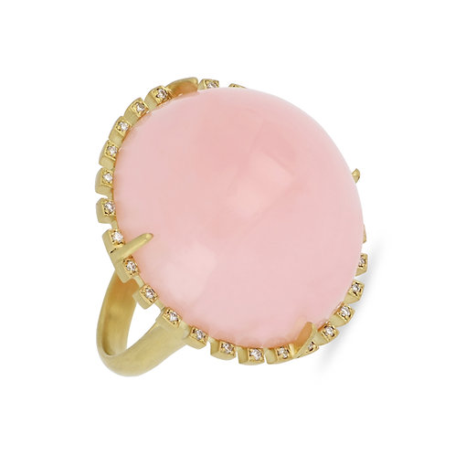 Large Pink Opal Ring