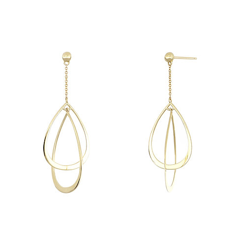 14K Small Pear Drops