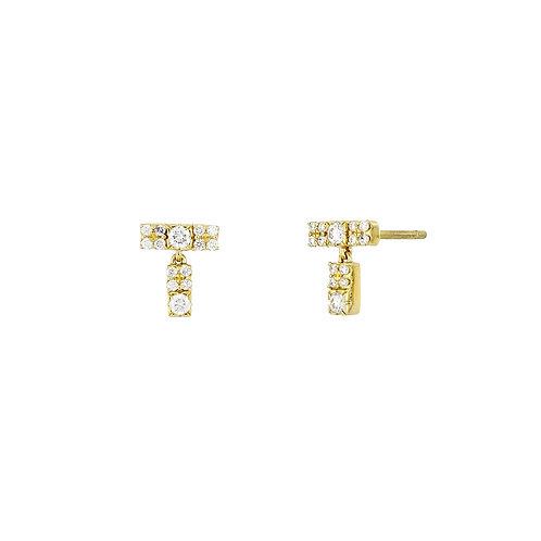 Cleo Petite Bar Drop Earrings