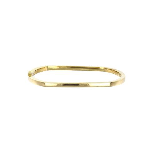 14K Geo Shaped Bangle