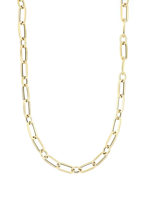 14K 18' DOUBLE LINK NECKLACE