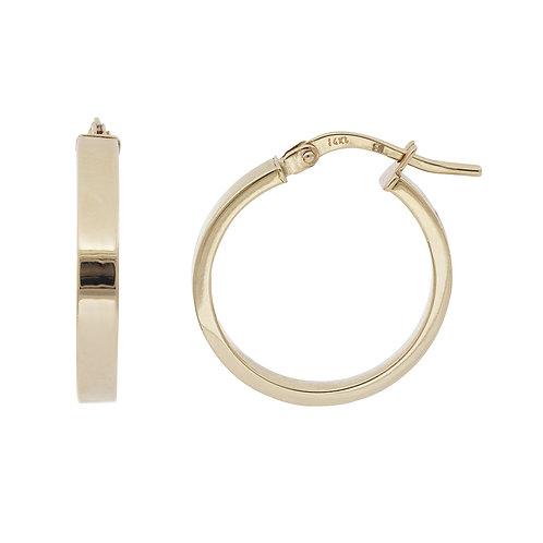 Bony Levy Gold Pipe Cut Hoops Earrings