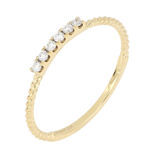 BL Icons Twisted Diamond Stack Ring