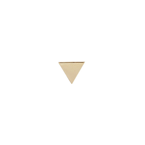Bony Levy Gold Single Triangle Stud Earring