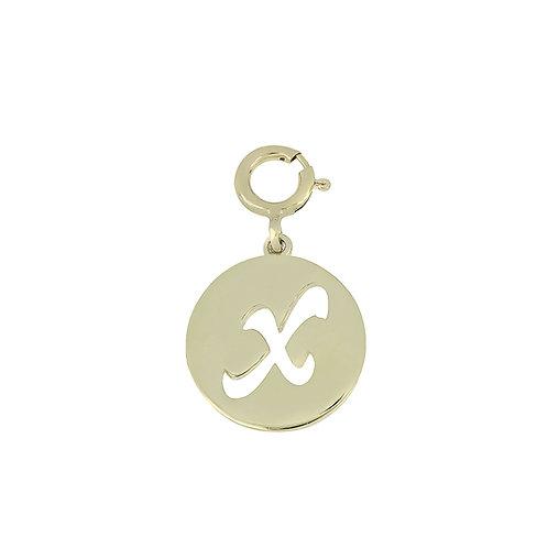 "14K Initial Charm - ""X"""