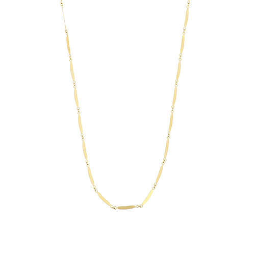 14K Gold Station Bar Necklace
