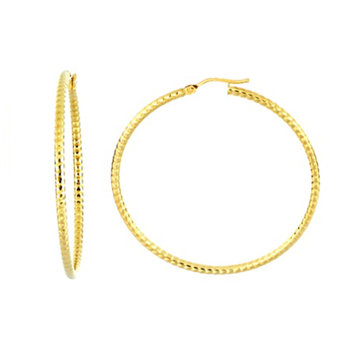 Textured Large Hoops