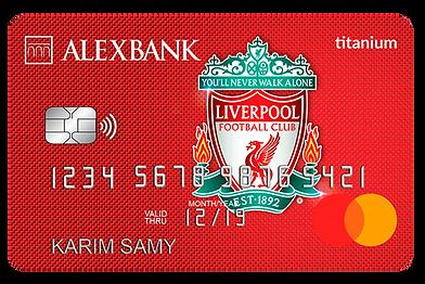 Alex Bank Liverpool FC Titanium Credit C