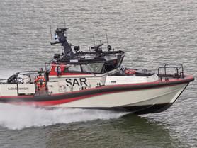 Uudenkarhea SAR meripelastusalus esittäytyy Iniön purjehdustapahtumassa 23.7.