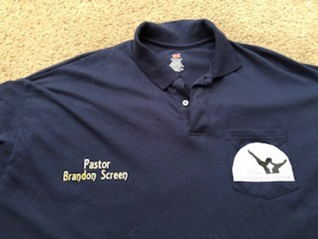 Polo Shirt Front & Back w/Name