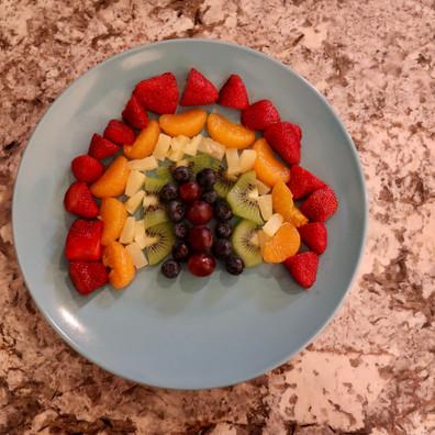 Rainbow Fruit Parfait